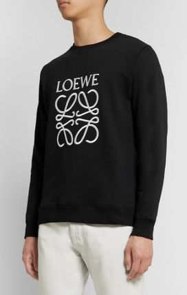 LOEWE Sweatshirts Crew Neck Long Sleeves Cotton Logo Luxury Sweatshirts 2