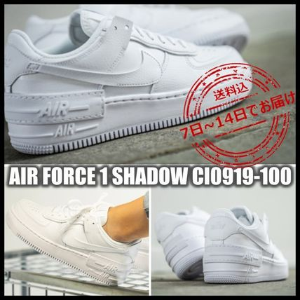 Nike AIR FORCE 1 Platform Casual Style Street Style Logo