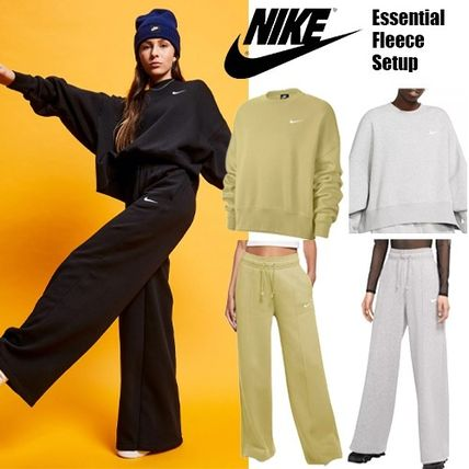 Nike Short Casual Style Street Style Long Sleeves Plain Cotton