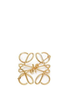 LOEWE Anagram Casual Style Party Style Brass Office Style Elegant Style