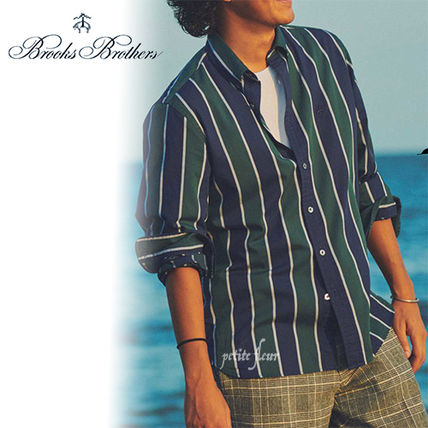 Front Button Stripes Long Sleeves Shirts