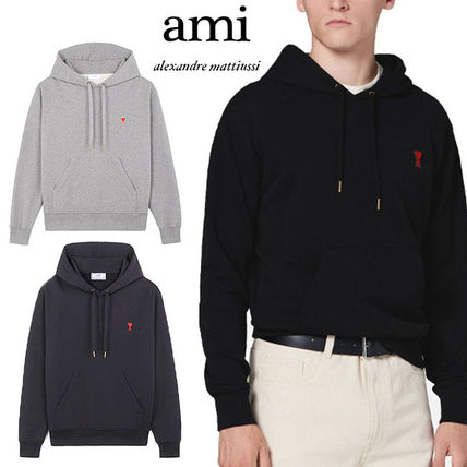 AMI ALEXANDRE MATTIUSSI Pullovers Unisex Sweat Street Style Long Sleeves Plain