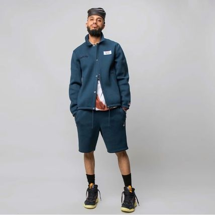Nike AIR JORDAN Short Unisex Street Style Collaboration Plain MA-1