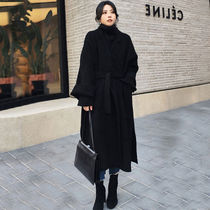 Casual Style Wool Long Party Style Elegant Style