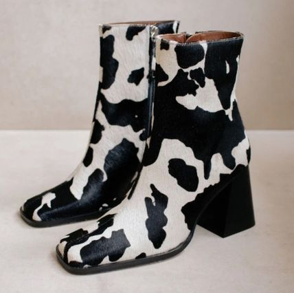 Square Toe Casual Style Spawn Skin Other Animal Patterns