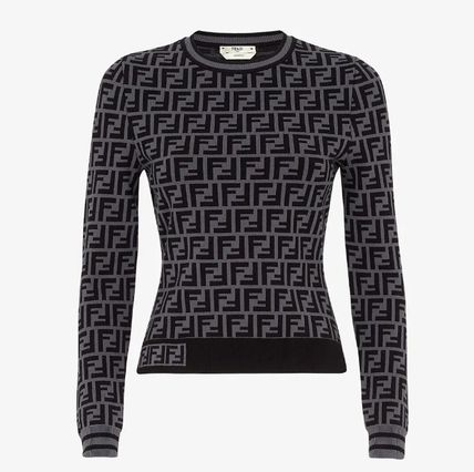 FENDI Long Sleeves V-neck & Crew neck