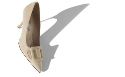Manolo Blahnik Casual Style Plain Leather Party Style Office Style
