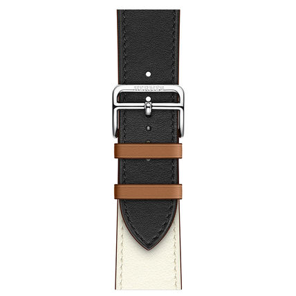 HERMES Casual Style Unisex Blended Fabrics Street Style Leather