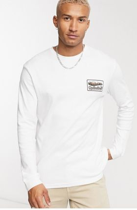 Quik Silver Long Sleeve Crew Neck Pullovers Unisex Street Style Long Sleeves Plain 2