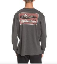 Quik Silver Long Sleeve Crew Neck Pullovers Unisex Street Style Long Sleeves Plain 5