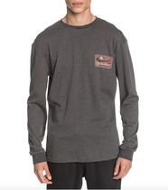 Quik Silver Long Sleeve Crew Neck Pullovers Unisex Street Style Long Sleeves Plain 6