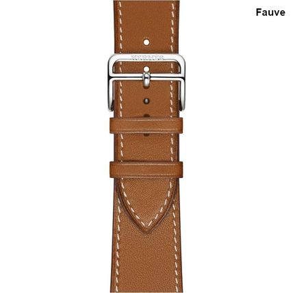 HERMES Casual Style Leather Office Style Apple Watch Belt Watches
