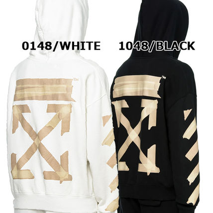 Off-White Hoodies Pullovers Unisex Sweat Street Style Long Sleeves Cotton Logo 2