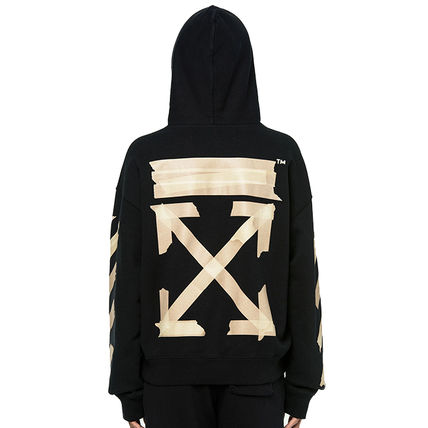 Off-White Hoodies Pullovers Unisex Sweat Street Style Long Sleeves Cotton Logo 4
