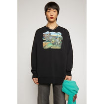 Ance Studios Crew Neck Pullovers Unisex Street Style Long Sleeves