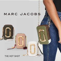 MARC JACOBS Casual Style Vanity Bags Chain Plain Leather Party Style