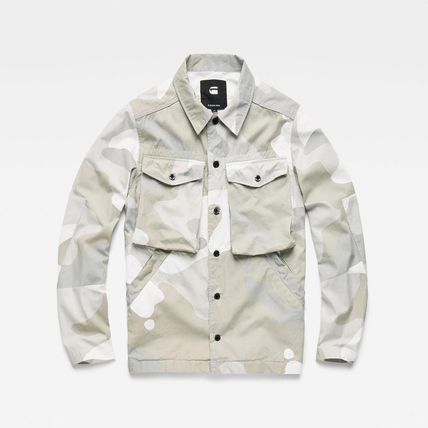 G-Star Camouflage Street Style Long Sleeves Cotton Logo Shirts