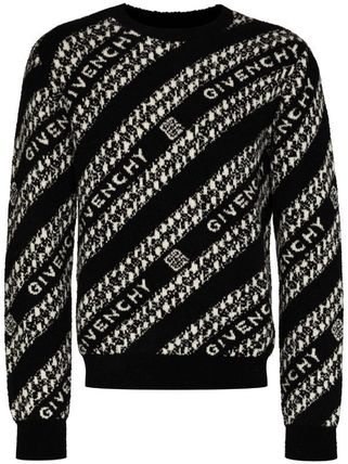GIVENCHY Sweaters Crew Neck Pullovers Wool Long Sleeves Logo Luxury Sweaters 2