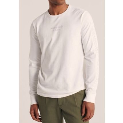 Abercrombie & Fitch Long Sleeve Crew Neck Street Style Long Sleeves Plain Cotton 4