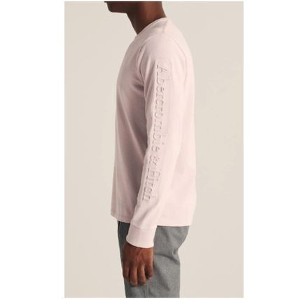 Abercrombie & Fitch Long Sleeve Crew Neck Street Style Long Sleeves Plain Cotton 8