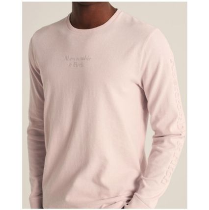 Abercrombie & Fitch Long Sleeve Crew Neck Street Style Long Sleeves Plain Cotton 9
