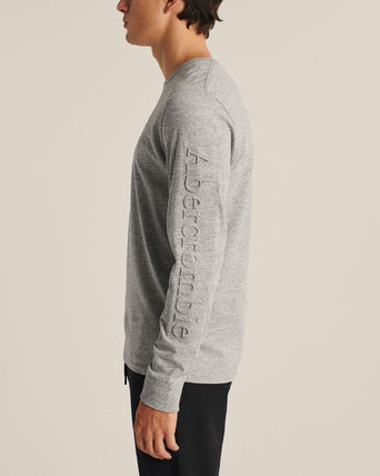 Abercrombie & Fitch Long Sleeve Crew Neck Street Style Long Sleeves Plain Cotton 17