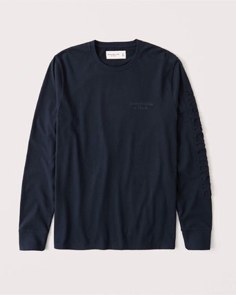 Abercrombie & Fitch Long Sleeve Crew Neck Street Style Long Sleeves Plain Cotton 5