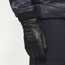 CANADA GOOSE Unisex Plain Leather Logo Leather & Faux Leather Gloves