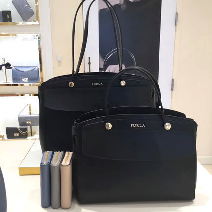 FURLA Saffiano Plain Leather Handbags
