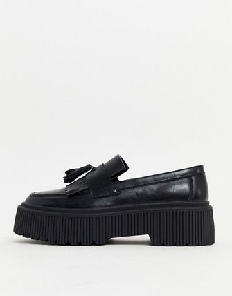 ASOS Loafers Faux Fur Plain Loafers & Slip-ons