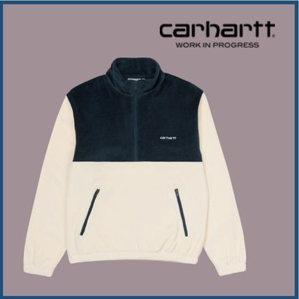 Carhartt Sweatshirts Unisex Long Sleeves Cotton Logo Sweatshirts