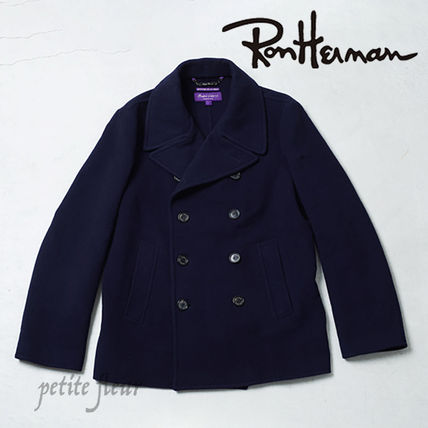 Ron Herman Short Wool Collaboration Plain Front Button Peacoats Coats