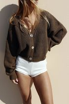 Maurie and Eve Platinum Casual Style Dolman Sleeves Long Sleeves Cotton Medium