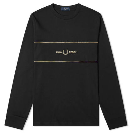 FRED PERRY Long Sleeve Long Sleeves Cotton Long Sleeve T-shirt Logo 2