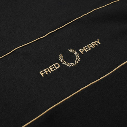 FRED PERRY Long Sleeve Long Sleeves Cotton Long Sleeve T-shirt Logo 3