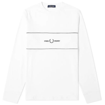 FRED PERRY Long Sleeve Long Sleeves Cotton Long Sleeve T-shirt Logo 4