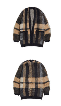Other Plaid Patterns Unisex Street Style Cardigans