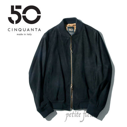 Short Suede Plain Jackets