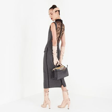 FENDI Tight Wool Cashmere Sleeveless Long Party Style