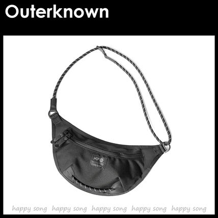 Outer known More Bags Blended Fabrics Street Style Collaboration Plain Bags