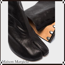 Maison Margiela Casual Style Leather Office Style Logo Ankle & Booties Boots