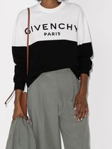 GIVENCHY Crew Neck Casual Style Cashmere Street Style Bi-color
