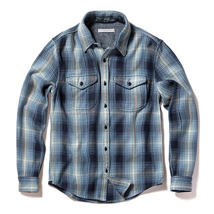 Outer known Shirts Button-down Other Plaid Patterns Unisex Street Style 3