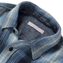 Outer known Shirts Button-down Other Plaid Patterns Unisex Street Style 4