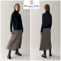 Massimo Dutti Flared Skirts Casual Style Pleated Skirts Medium Party Style