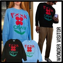 WONDER VISITOR Unisex Street Style Sweaters