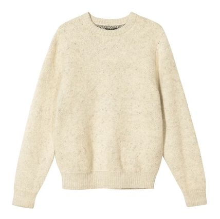 STUSSY Street Style Long Sleeves Logo Skater Style Sweaters