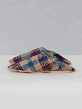 Casual Style Handmade Slippers Logo Shoes