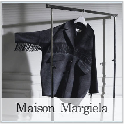 Maison Margiela Casual Style Wool Blended Fabrics Long Fringes Oversized