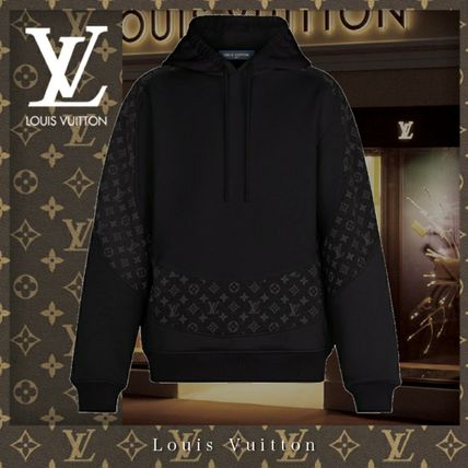 Louis Vuitton MONOGRAM Monogram Unisex Sweat Street Style Long Sleeves Cotton
